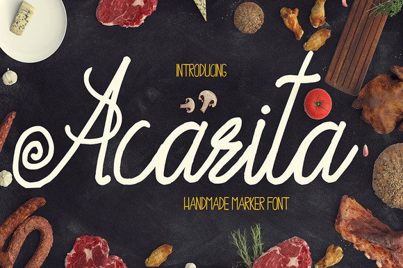 Print on Demand: Acarita Display Font By Only The Originals