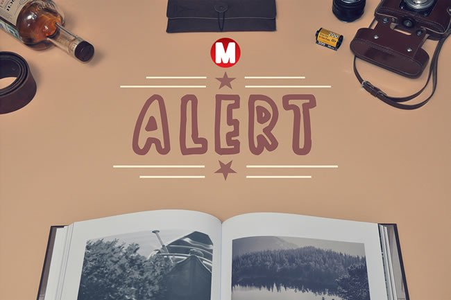 Alert Font By Only The Originals