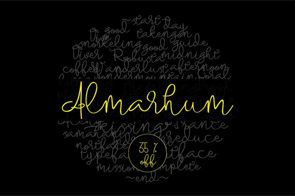 Almarhum Font By Incools Design Studio