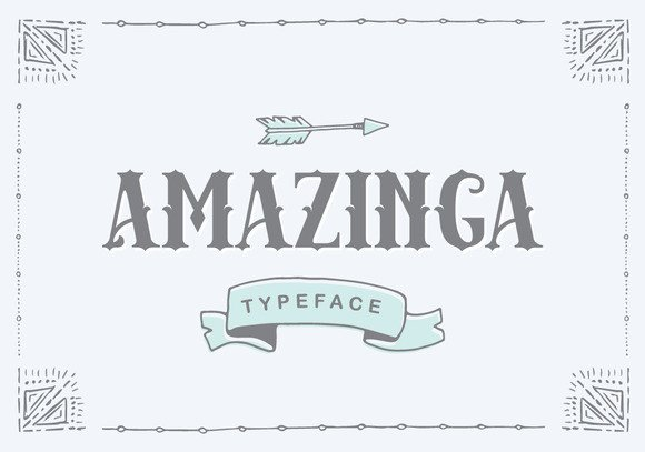 Print on Demand: Amazinga Display Font By Ian Mikraz