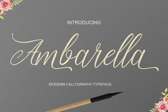Print on Demand: Ambarella Script & Handwritten Font By Polem