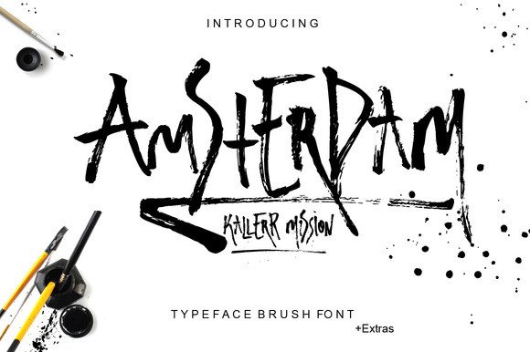 Print on Demand: Amsterdam Display Font By Only The Originals