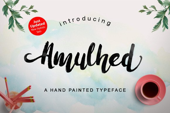 Print on Demand: Amulhed Brush Script & Handwritten Font By barland
