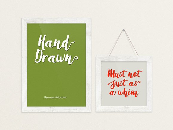 Print on Demand: Amulhed Brush Script & Handwritten Font By barland - Image 6