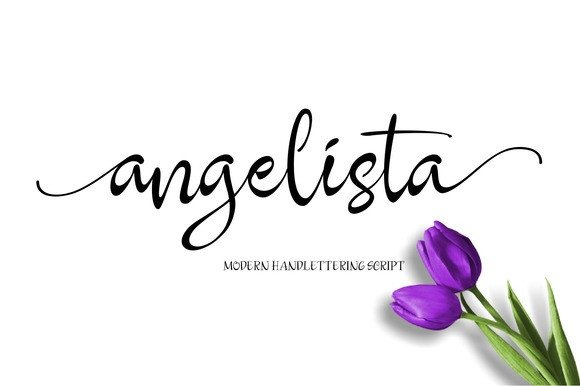 Print on Demand: Angelista Script & Handwritten Font By Byuly Ayika