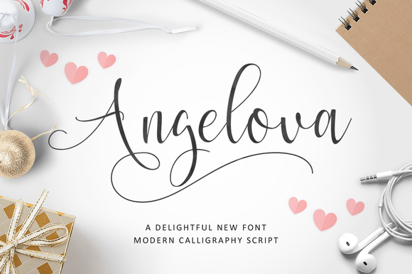 Print on Demand: Angelova Script & Handwritten Font By Ian Mikraz
