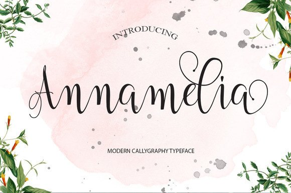 Print on Demand: Annamelia Script & Handwritten Font By Polem