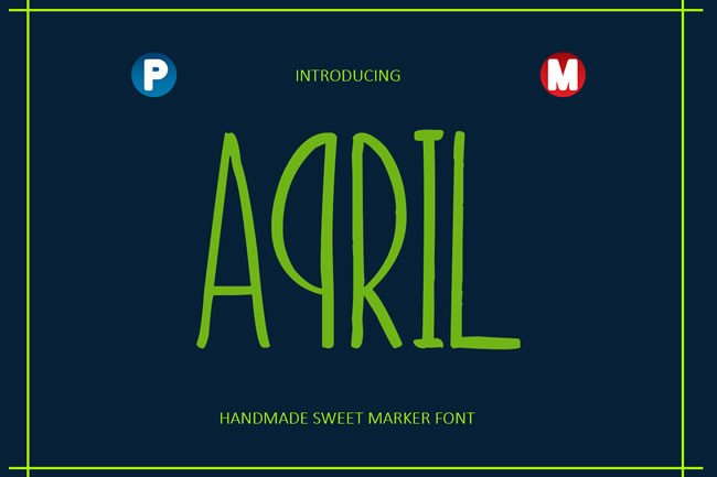 April Font By Only The Originals