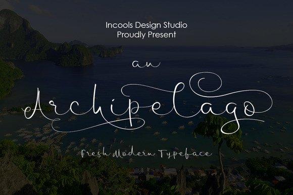 Print on Demand: Archipelago Script & Handwritten Font By Incools Design Studio