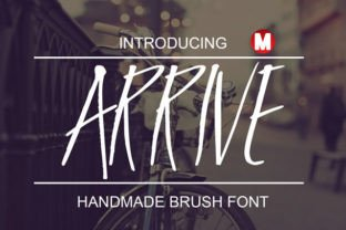 Arrive Font By Only The Originals