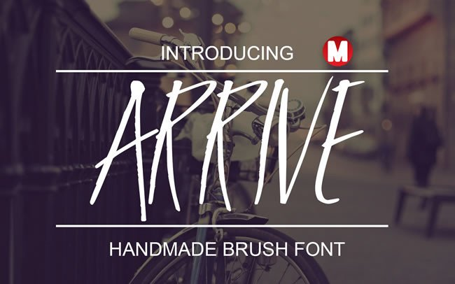 Print on Demand: Arrive Display Font By Only The Originals