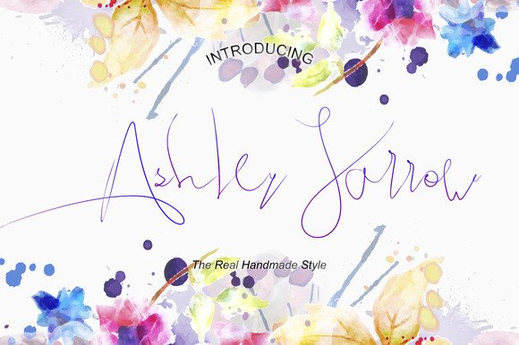 Print on Demand: Ashley Jarrow Script & Handwritten Font By BonjourType