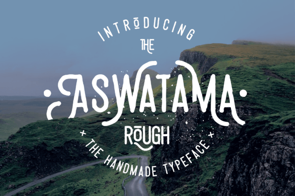 Print on Demand: Aswatama Rough Display Font By barland - Image 1
