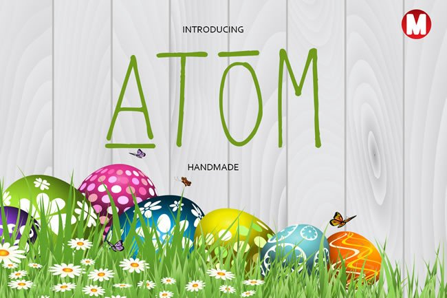 Atom Font By Only The Originals