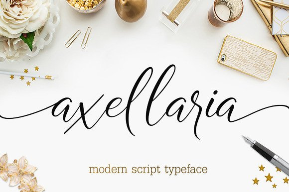 Print on Demand: Axellaria Script & Handwritten Font By Byuly Ayika - Image 1