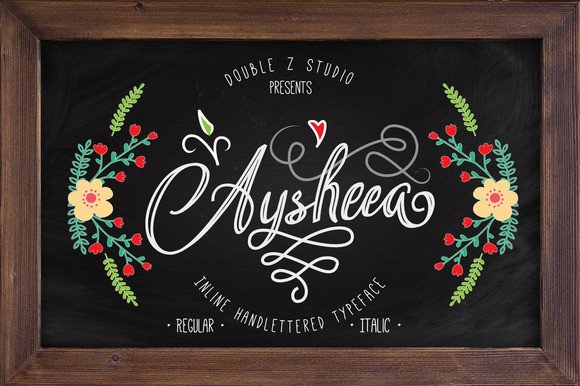 Print on Demand: Aysheea Script & Handwritten Font By Double Z Studio