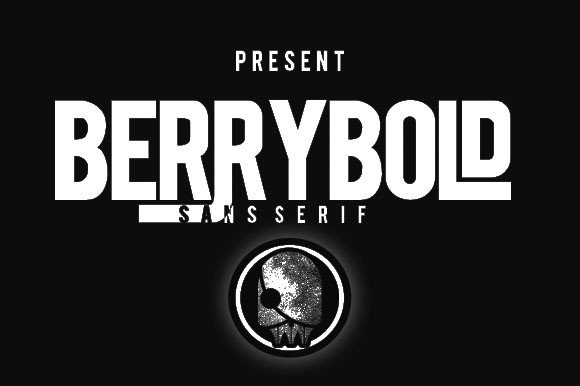 Print on Demand: Berrybold Sans Serif Font By Ijem RockArt