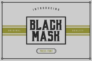 Black Mask font by Giemons in Font Subscription 1