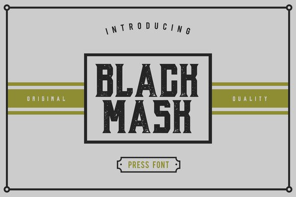 Black Mask Font By Giemons