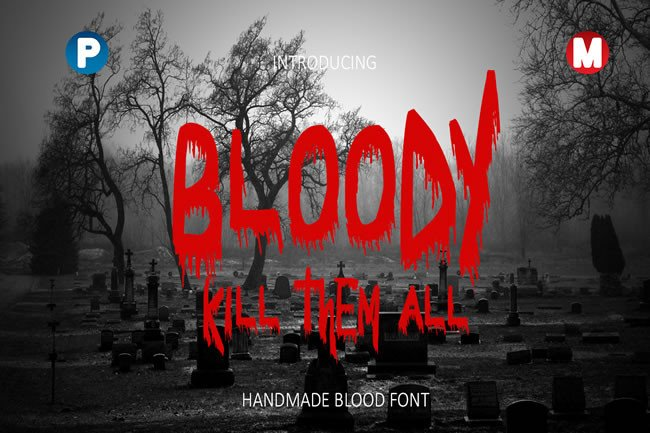 Print on Demand: Bloody Display Font By Only The Originals