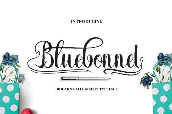 Print on Demand: Bluebonnet Script & Handwritten Font By Danti