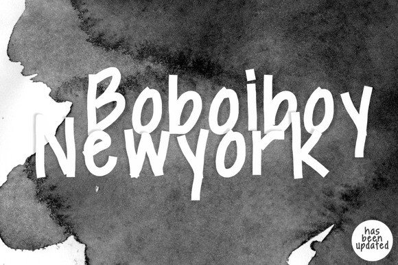 Print on Demand: Boboiboy Newyork Display Font By BonjourType - Image 1