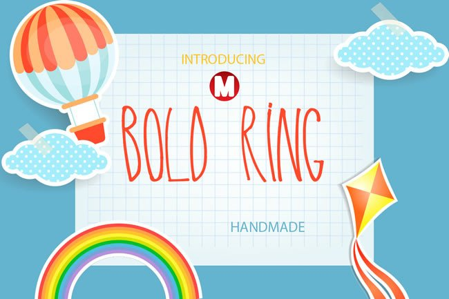 Print on Demand: Bold Ring Display Font By Only The Originals