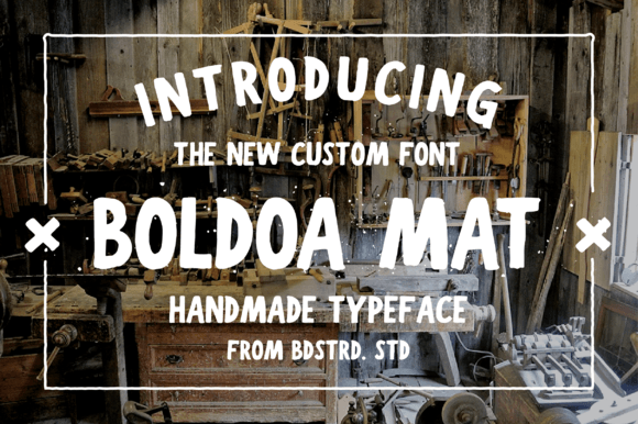 Print on Demand: Boldoa Mat Sans Serif Font By barland - Image 1
