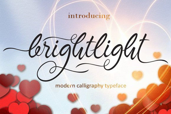 Print on Demand: Brightlight Script & Handwritten Font By Byuly Ayika - Image 1