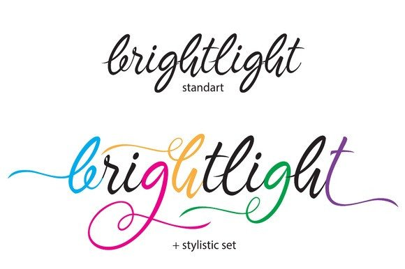 Print on Demand: Brightlight Script & Handwritten Font By Byuly Ayika - Image 2