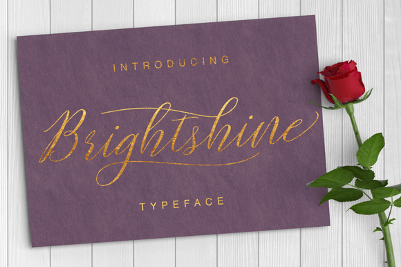 Download Free Brightshine Font By Ian Mikraz Creative Fabrica for Cricut Explore, Silhouette and other cutting machines.