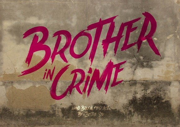 Print on Demand: Brother in Crime Display Font By Bdstrd Std