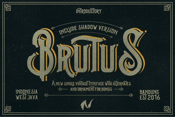 Print on Demand: Brutus Display Font By Ndroadv - Image 4
