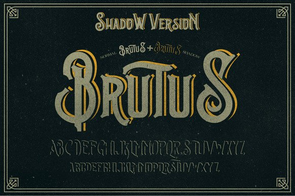 Brutus Display Font By Ndroadv