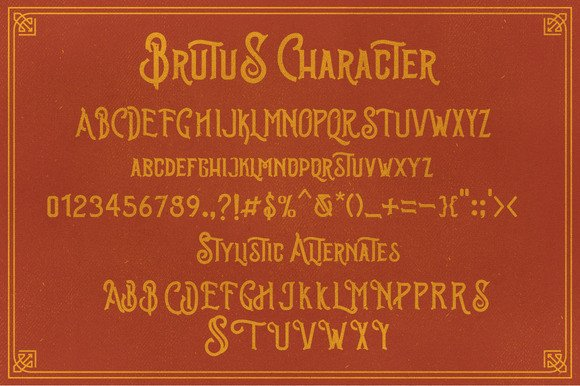 Print on Demand: Brutus Display Font By Ndroadv - Image 2