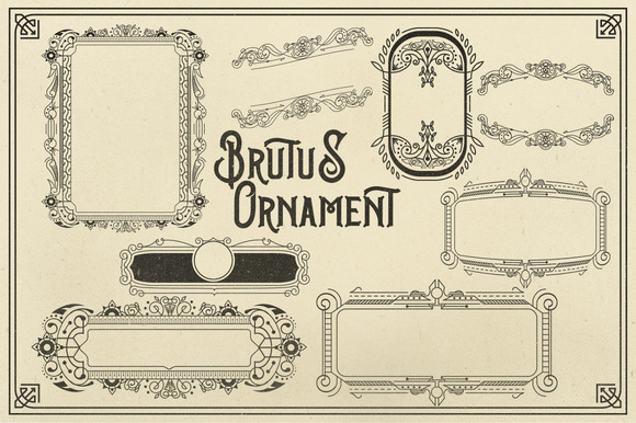 Print on Demand: Brutus Display Font By Ndroadv - Image 3