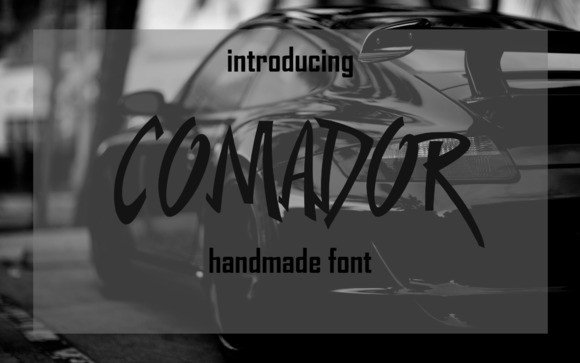 Print on Demand: Comador Display Font By Only The Originals