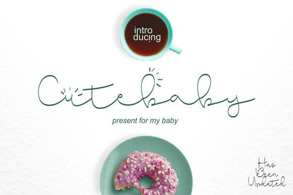 Print on Demand: Cute Baby Script & Handwritten Font By BonjourType