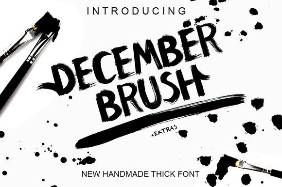Print on Demand: December Brush Display Font By Only The Originals