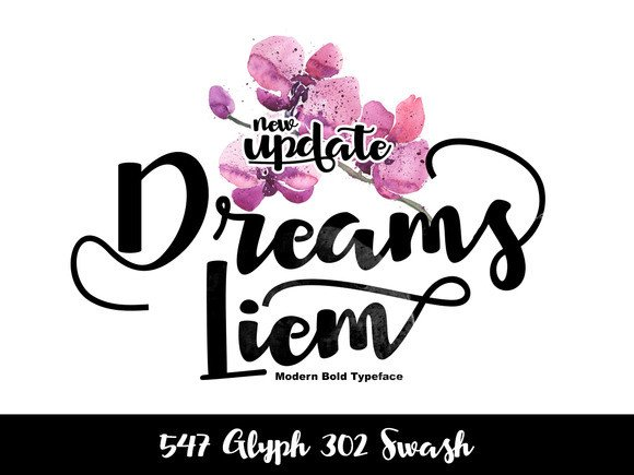 Print on Demand: Dreams Liem Script & Handwritten Font By Ijem RockArt