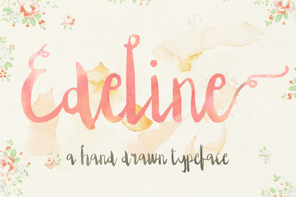 Print on Demand: Edeline Script & Handwritten Font By Blue Robin Design Shop - Image 1
