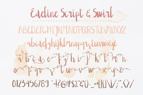 Print on Demand: Edeline Script & Handwritten Font By Blue Robin Design Shop - Image 2