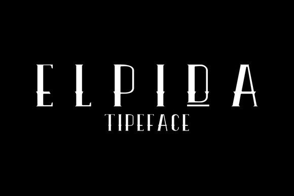 Print on Demand: Elpida Lean Display Font By Ijem RockArt