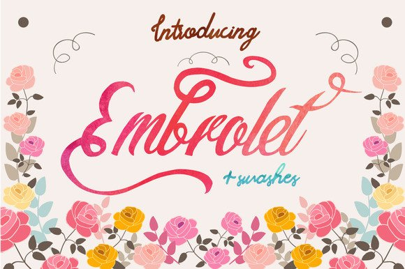 Print on Demand: Embrolet Script & Handwritten Font By Only The Originals