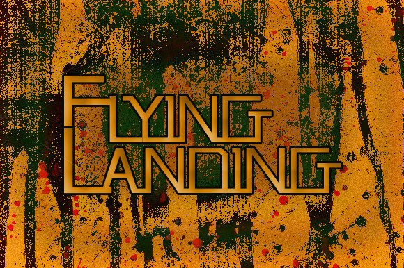 Flying Landing Font By Ijem RockArt