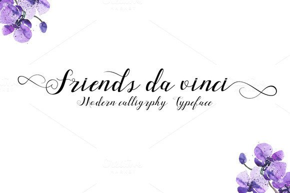 Print on Demand: Friends Da Vinci Script & Handwritten Font By Ijem RockArt