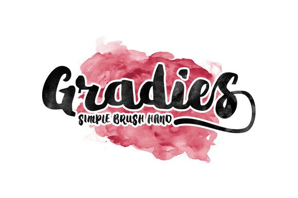 Gradies Brush Font By Ijem RockArt