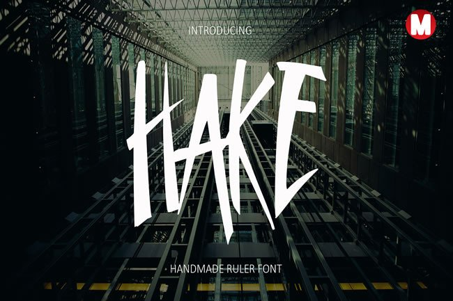 Print on Demand: Hake Display Font By Only The Originals