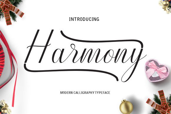 Print on Demand: Harmony Script & Handwritten Font By Danti