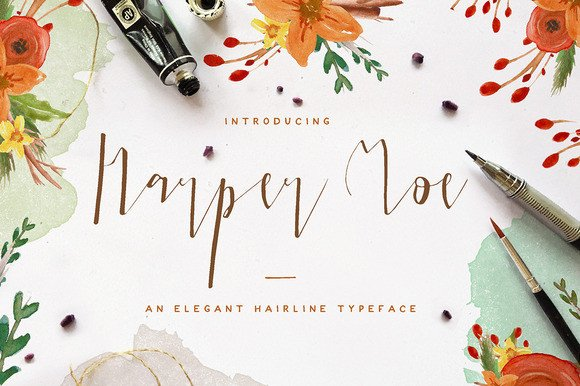 Print on Demand: Harper Moe Script & Handwritten Font By Blue Robin Design Shop